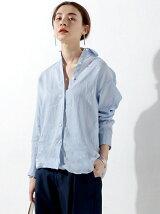 ○UBBT リネン レギュラー カラー シャツ