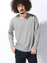 VネックロングスリーブTシャツ