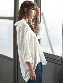 Ranan 袖リボン異素材使いドルマンシャツ ラナン シャツ/ブラウス