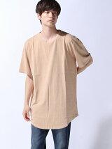 (M)ZIP FIVE 製品洗い加工ロング丈Tシャツ(4)