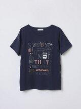 カラフルタイポ柄Tシャツ