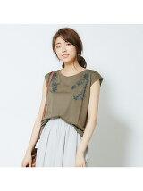【EC限定】エンブロイダリープリントフレンチTシャツ【予約】