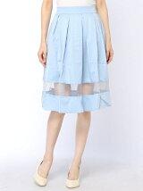 オーガンジー切替スカート