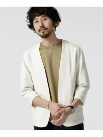 【SALE/70%OFF】nano・universe リンクスジャガード着流しジャケット ナノユニバース カットソー カットソーその他 ホワイト ネイビー