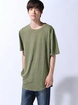 (M)ZIP FIVE 製品洗い加工ロング丈Tシャツ(5)