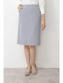 【SALE/40%OFF】NATURAL BEAUTY BASIC [洗える]マリンボタンタイトスカート ナチュラルビューティベーシック スカート【RBA_S】【RBA_E】【送料無料】