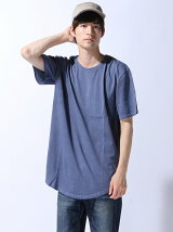 (M)ZIP FIVE 製品洗い加工ロング丈Tシャツ(6)