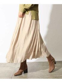OZOC サテンイレヘムギャザースカート オゾック スカート ロングスカート ブラウン ブルー【送料無料】