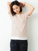 BEAMS BOY / ドット プリント Tシャツ ビームスボーイ