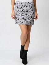 【W】レオパード柄刺繍スカート