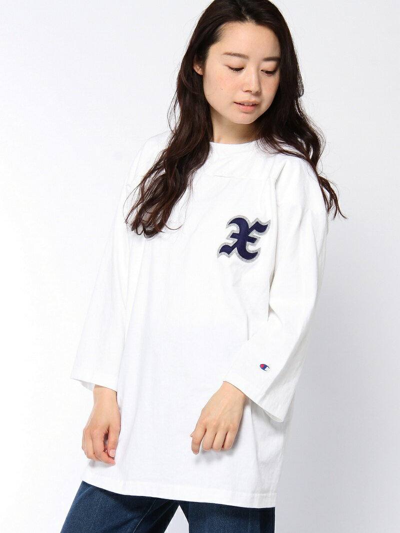 【SALE/38%OFF】X-girl X-girl x Champion PATCHED BIG F/B TEE エックスガール カットソー【RBA_S】【RBA_E】【送料無料】