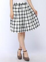 シアーチェックタックギャザースカート 3