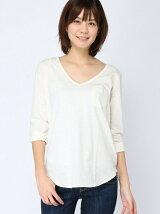 (W)ポケット付きターンバックロングTシャツ・カットソーDDW1