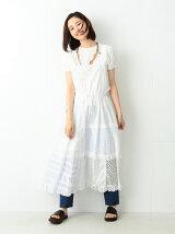 TORI-TO × BEAMS BOY / レース切替え ジャンパー スカート