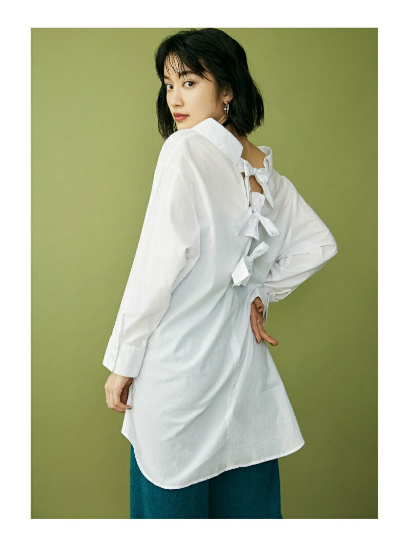 【SALE/50%OFF】MURUA バッグリボンロングシャツ ムルーア シャツ/ブラウス【RBA_S】【RBA_E】