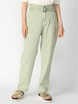 (W)Belted High-Rise Chino Pants