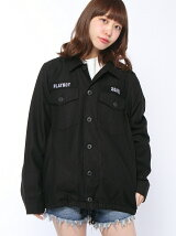 X-girl x PLAY BOY BDU JACKET