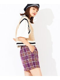 【SALE/46%OFF】WEGO WG/(L)チェーンミニスカパン ウィゴー スカート ミニスカート パープル ブラック ブラウン