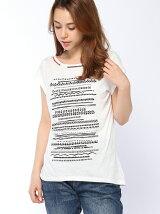 (W)ネックビーズTシャツ・カットソー2UBS