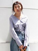 [Cl]Vネックデザインシャツ