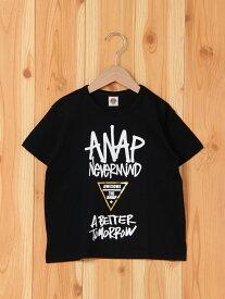 【SALE/20%OFF】ANAP KIDS ANAP KIDS/手描きロゴBIGTシャツ アナップ カットソー キッズカットソー ブラック カーキ ホワイト