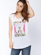 (W)裾ラウンドグラフィックTシャツ・カットソーF