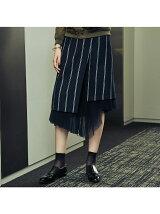 チュールコンビ巻きラップスカート