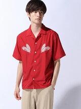 (M)ZIP FIVE オープンカラー刺繍半袖シャツ(2)