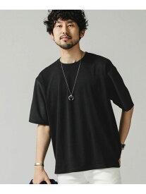 【SALE/20%OFF】nano・universe 布帛ドッキングビッグTシャツ ナノユニバース カットソー Tシャツ ブラック グレー ネイビー