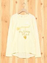 (K)草木染め刺繍ガールTシャツ・カットソー