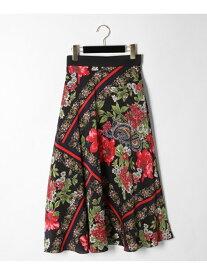 GRACE CONTINENTAL ボタニカルスカーフスカート グレースコンチネンタル スカート【送料無料】