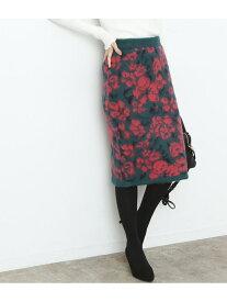 【SALE/70%OFF】ViS 【セットアップ対応商品】ジャカードニットスカート ビス スカート スカートその他 グリーン ホワイト