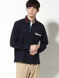 【SALE/60%OFF】CROCODILE CROCODILE/(M)シャドーストライプラガーシャツ クロコダイル シャツ/ブラウス 長袖シャツ ネイビー ブルー ホワイト