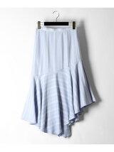ストライプマーメイドスカート