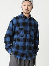 BEAMS / オンブレチェック ルーズフィット ワークシャツ