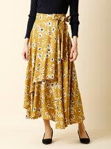 《INED》前合わせレイヤードフラワースカート