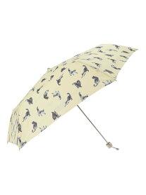 PAUL&JOE PAUL&JOE ACCESSOIRES/(W)雨傘折りたたみ軽量猫プリント ムーンバット ファッショングッズ 日傘/折りたたみ傘 イエロー ネイビー ピンク