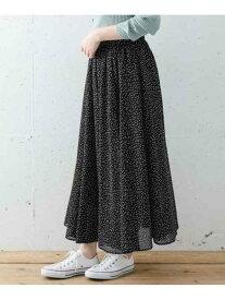 【SALE/60%OFF】Sonny Label 楊柳ドットスカート サニーレーベル スカート スカートその他 ブラック ブラウン