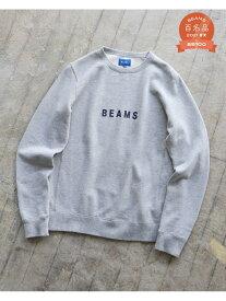 BEAMS MEN BEAMS / ロゴ クルーネック スウェット ビームス メン カットソー スウェット グレー ブラック ネイビー【送料無料】