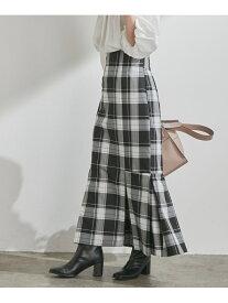 ViS 女性らしさを引き立つ,チェックアソートマーメイドスカート ビス スカート スカートその他 ブラック グレー ベージュ【送料無料】
