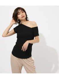 【SALE/50%OFF】AZUL by moussy Asymmetrysleevecuttops アズールバイマウジー カットソー カットソーその他 ブラック ホワイト オレンジ