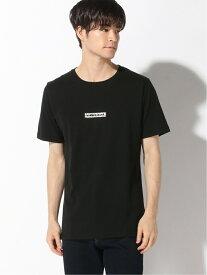 ADPOSION ADPOSION/(M)【NUMBER (N)INE DENIM】スパイダーボックスロゴTシャツ テットオム カットソー Tシャツ ブラック ホワイト【送料無料】