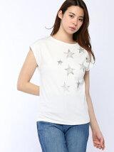 20強撚コットン星プリントTシャツ