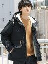 coen 【『GO OUT』10月号掲載】3WAYボアマウンテンパーカー コーエン コート/ジャケット【送料無料】
