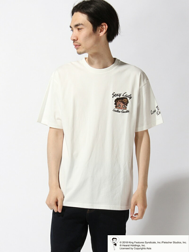 【SALE/20%OFF】LOWBLOW KNUCKLE LOWBLOW KNUCKLE/(M)BOOP POLICE Tシャツ サンコーバザール カットソー【RBA_S】【RBA_E】【送料無料】