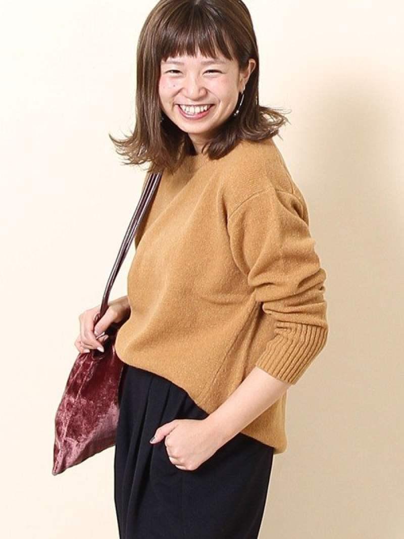 coen 【新色追加・『LEE』『リンネル』2017/11月号掲載・手洗いできる】ラムウールクルーネックニット コーエン