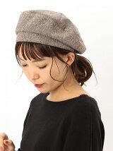 ヘリンボーンタックベレー帽