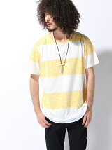 【JUNIOR SWEET】(M)ネックレス付きレイヤード総柄Tシャツ