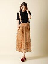 【WEB限定大きいサイズ】ベロアサロペットスカート