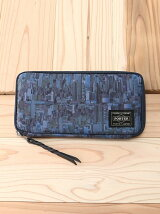【PORTER 吉田かばん】BUILDING PATTERN CAMOUFLAGE×LONGWALLET